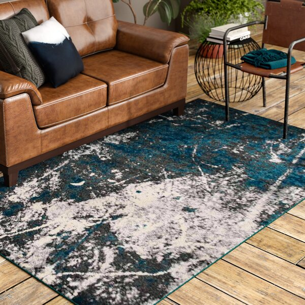 Costales Silver/Blue Area Rug by 17 Stories