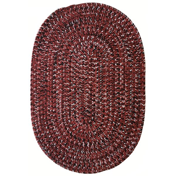 One-of-a-Kind Aukerman Hand-Braided Red/Black Indoor/Outdoor Area Rug by Isabelline