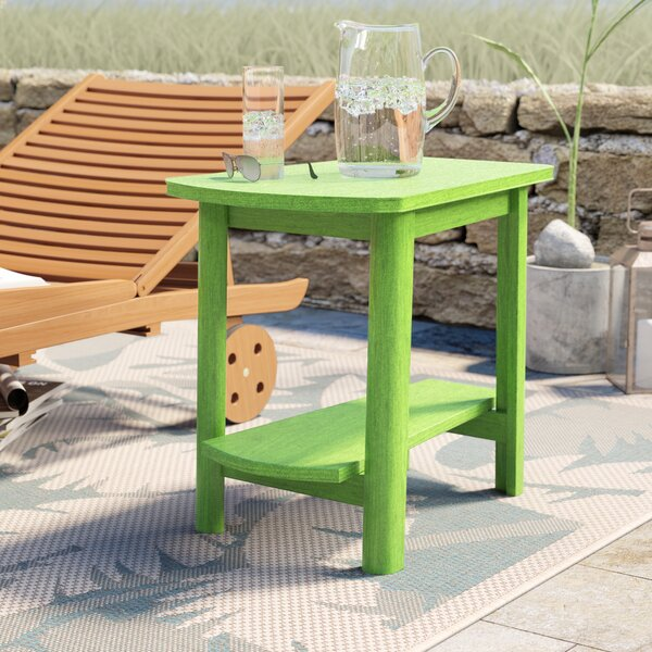 Alanna Plastic/Resin Side Table by Beachcrest Home