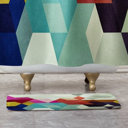 Rectangle Non-Slip Geometric Bath Rug