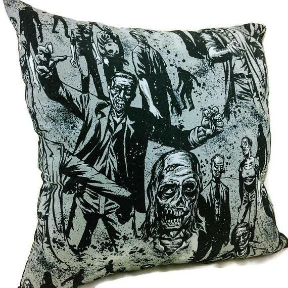 Walking Zombies Throw Pillow by East Urban Home
