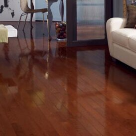 High Gloss 2-1/4 Solid Oak Hardwood Flooring in Cherry by Somerset Floors