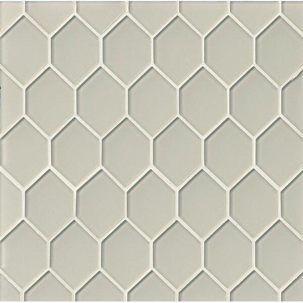 La Palma Glass Mosaic Tile in Fog by Grayson Martin