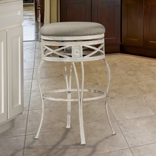 Pharris 26 Swivel Indoor/Outdoor Patio Bar Stool by One Allium Way