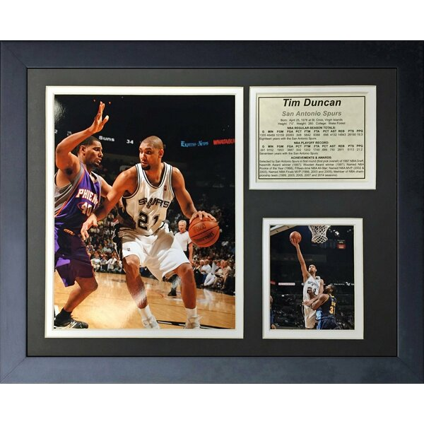 Tim Duncan - Home Framed Memorabilia by Legends Never Die