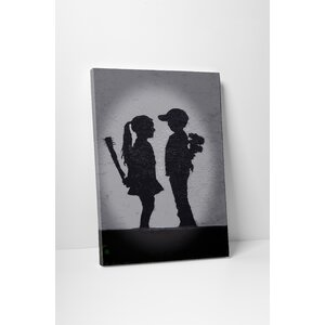 Ulterior Motives by Banksy Painting Print on Wrapped Canvas by Pingo World
