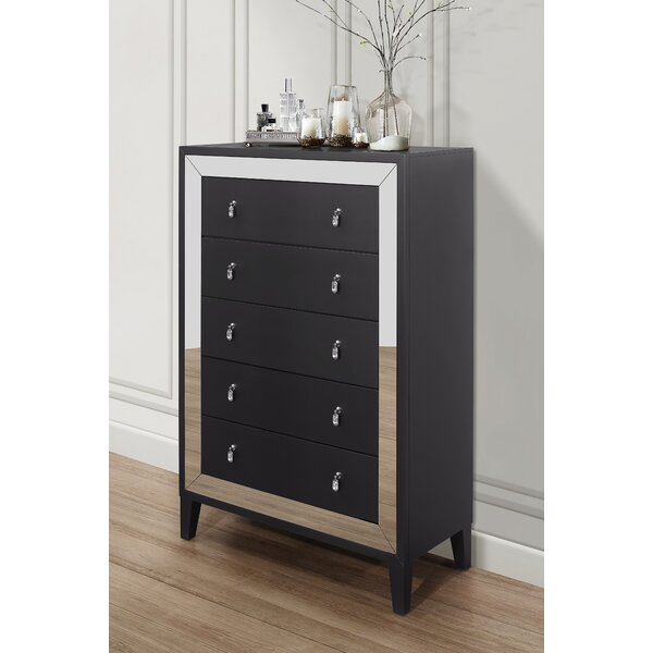 Cecile 5 Drawer Chest by Everly Quinn