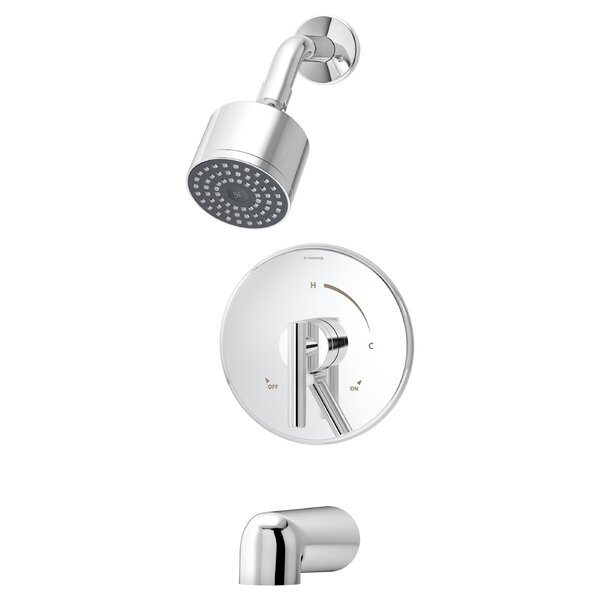 Dia Pressure Balance Tub and Shower Trim with Lever Handle by Symmons