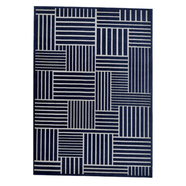 Grossman Navy/Gray Area Rug by Wrought Studio