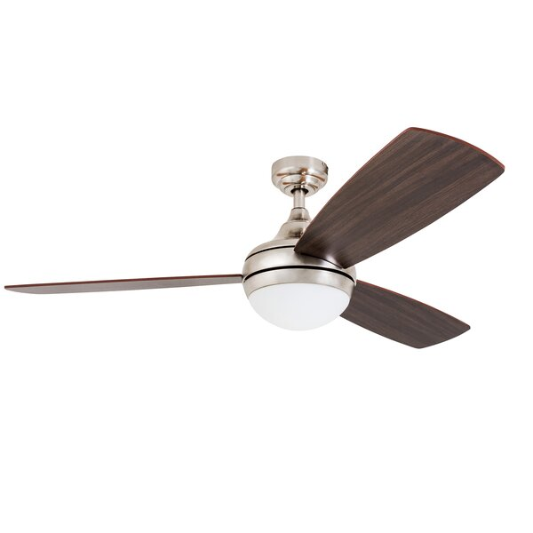 52 Alexa 3 Blade LED Ceiling Fan with Remote Control by Wrought Studio