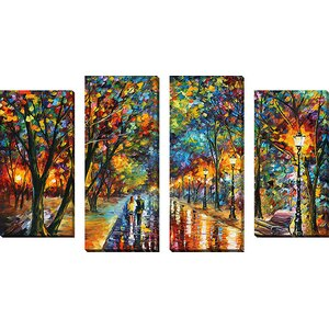 'When The Dreams Came True' by Leonid Afremov 4 Piece Painting Print on Wrapped Canvas Set by Latitude Run