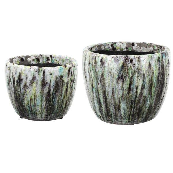 2-Piece Terracotta Pot Planter Set by A&B Home