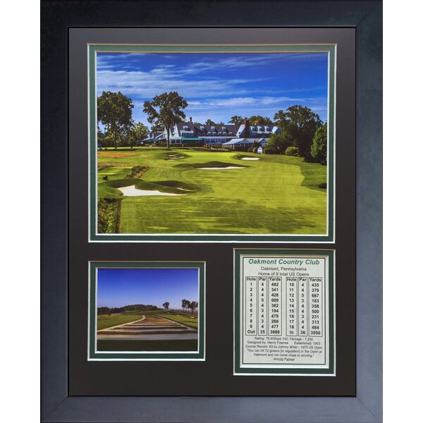 Oakmont Country Club Framed Memorabilia by Legends Never Die