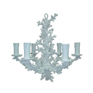 White coral chandelier wayfair snow coral 6 light candle style chandelier aloadofball Gallery