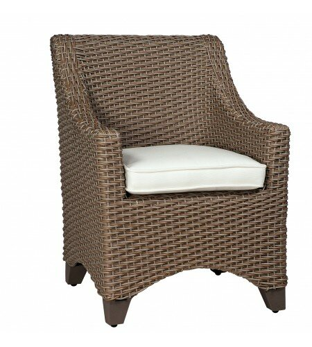 Augusta Patio Dining Chair with Cushion by Woodard