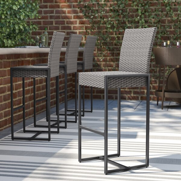 Fulghum 30-inch Patio Bar Stool (Set Of 4) By Brayden Studio