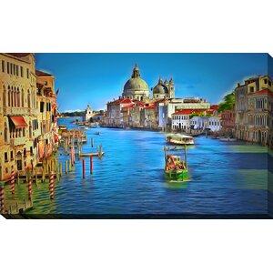 Venice Grand Canal by Yuri Malkov Painting Print on Wrapped Canvas by Picture Perfect International