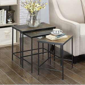 Alcott Hill Barker Ridge 3 Piece Nesting Tables Image