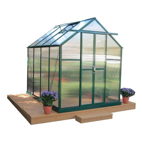 Element Heavy-Duty Aluminum 6 Ft. W x 8 Ft. D Greenhouse by Grandio Greenhouses