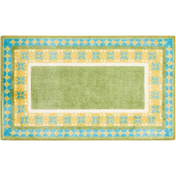 Mosser Accent Décor Green/Yellow Area Rug by Ebern Designs