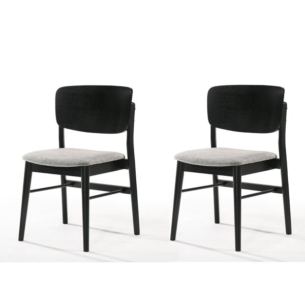 Scribner Side Chair In Black (Set Of 2) By George Oliver