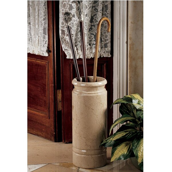 Solid Ivory Marble Cane and Umbrella Stand by Design Toscano