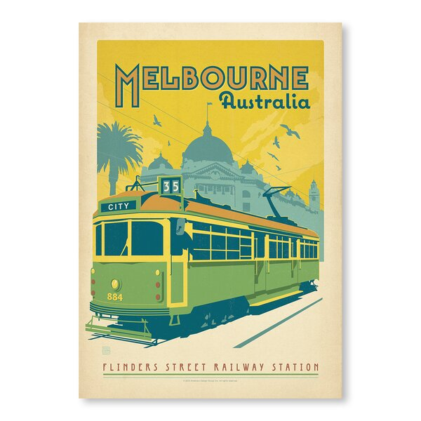 Melbourne Trolley Vintage Advertisement by East Urban Home
