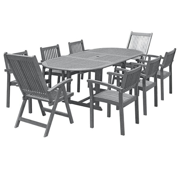Drees 9 Piece Dining Set by Darby Home Co