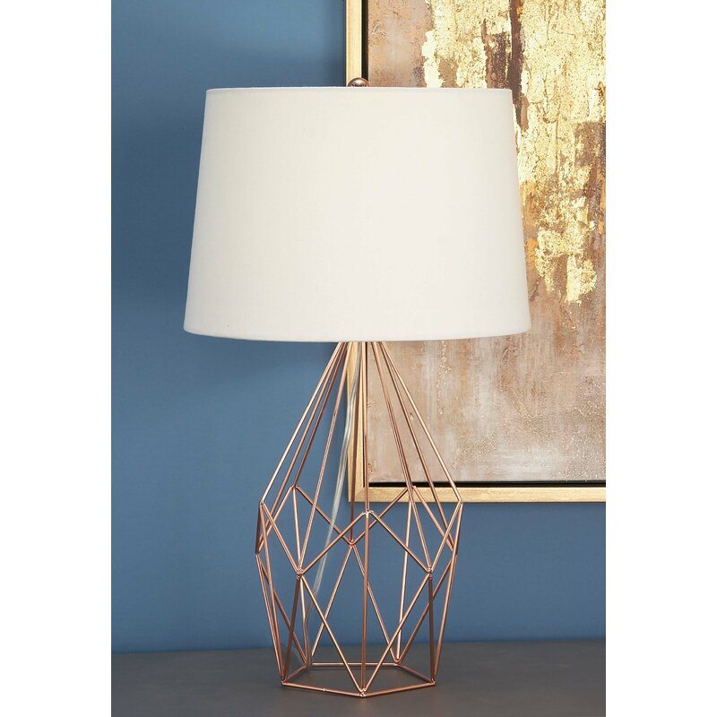 Cole grey metal wire 23 table lamp reviews wayfair metal wire 23 table lamp keyboard keysfo Image collections