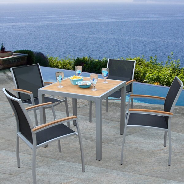 Galliano 5 Piece Teak Dining Set by Bellini Home and Garden