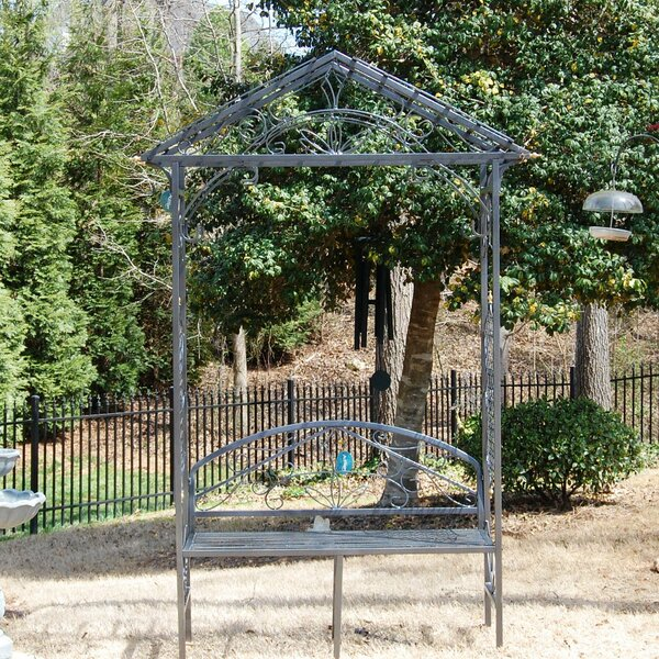 Pagoda Steel Arbor with Bench by Griffith Creek Designs