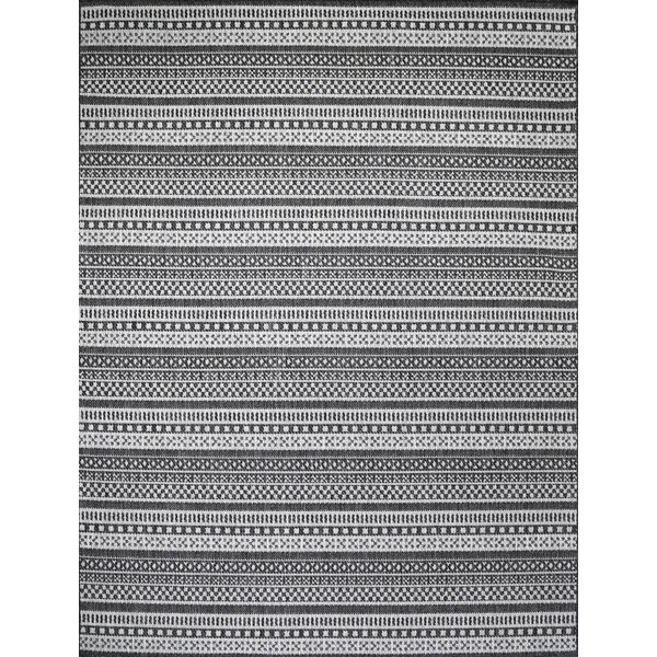 Starks Stripe Gray Indoor/Outdoor Area Rug by Union Rustic
