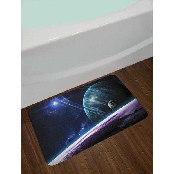 Universe Blue Purple Space Bath Rug by East Urban Home