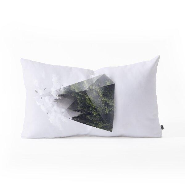 Robert Farkas Forest Triangle Oblong Indoor/Outdoor Lumbar Pillow