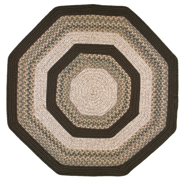 Beantown Baked Beans Octagon Tan/Brown Area Rug by Thorndike Mills