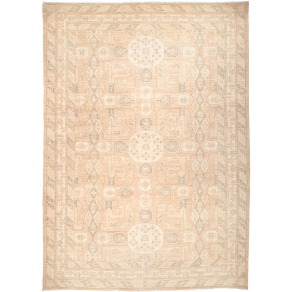 One-of-a-Kind Pritchett Hand Knotted Wool Beige Area Rug by One Allium Way