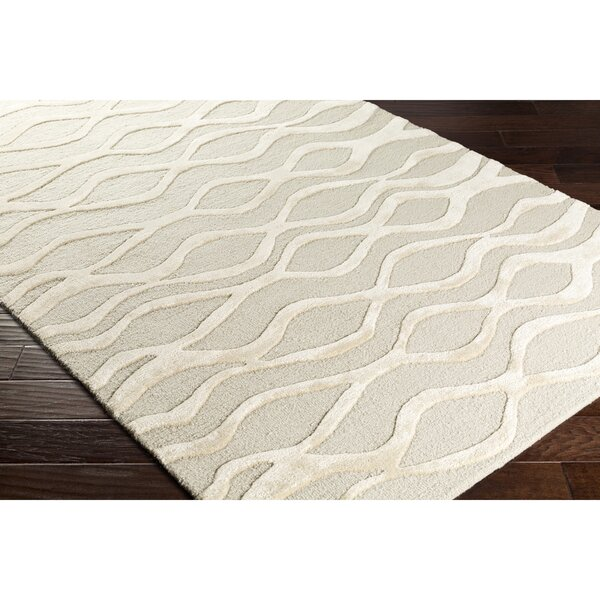 Blandon Hand-Tufted Gray/Neutral Area Rug by Wrought Studio