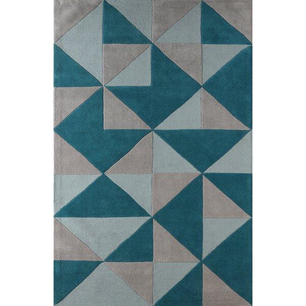 Lueras Hand-Tufted Lapis Area Rug by Brayden Studio