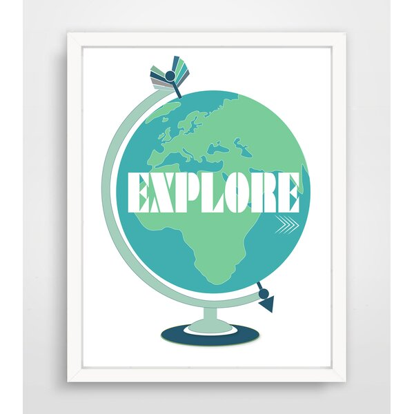 Explore Globe Paper Print by Finny and Zook