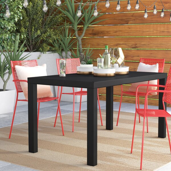 Modern  Melissus Plastic/Resin Dining Table By Mercury Row Top Reviews