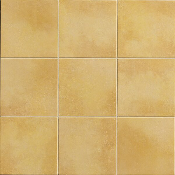 Poetic License 6 x 6 Porcelain Field Tile in Lemon by PIXL
