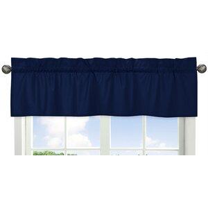 Solid Navy Curtain Valance