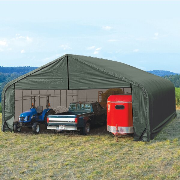 Peak Standard 28 Ft. X 24 Ft. Garage By Shelterlogic.