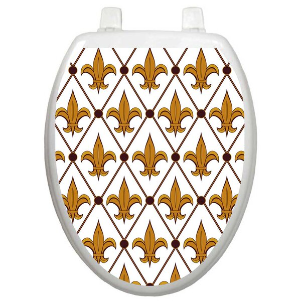 Classic Fleur-De-Lis Toilet Seat Decal by Toilet Tattoos