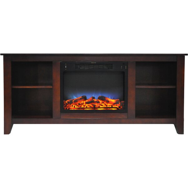 Brook Hollow 62.8 TV Stand with Electric Fireplace by Alcott Hill