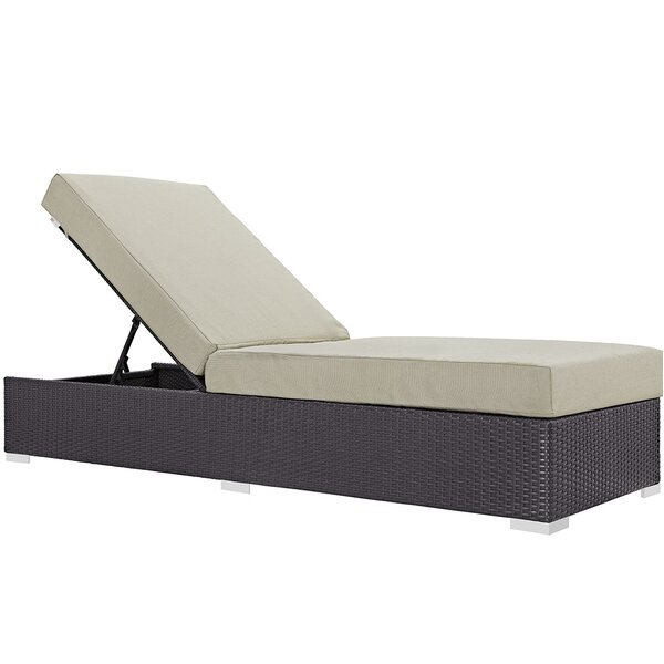 Brentwood Contemporary Chaise Lounge with Cushion by Sol 72 Outdoor