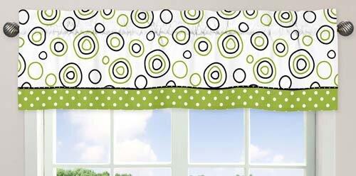 Spirodot 54 Curtain Valance by Sweet Jojo Designs