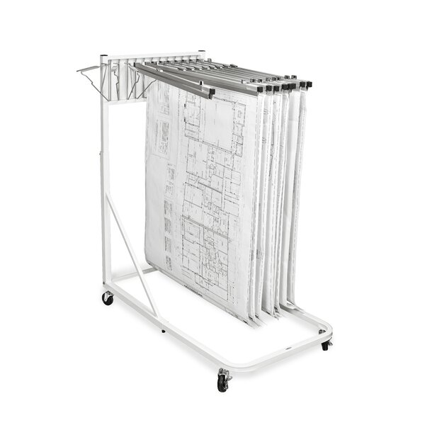 Adir Vertical File Rolling Stand for Blueprints by Adir Corp