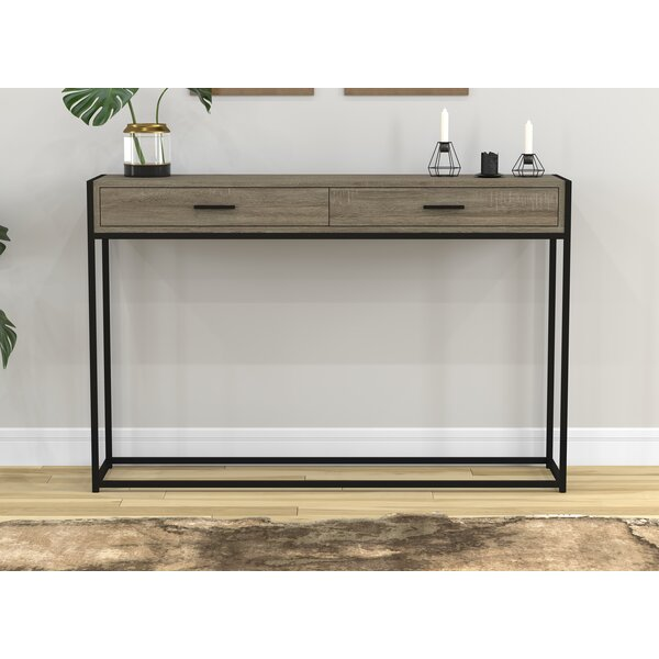 Stroud Metal Console Table by Union Rustic