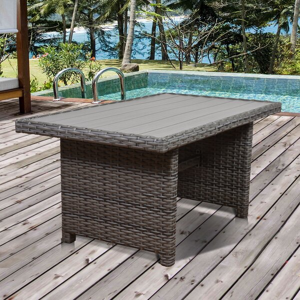 Tergel Low Patio Dining Table by Beachcrest Home